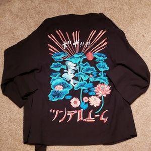 Topshop Short Asian Kimono Robe Top sz 6